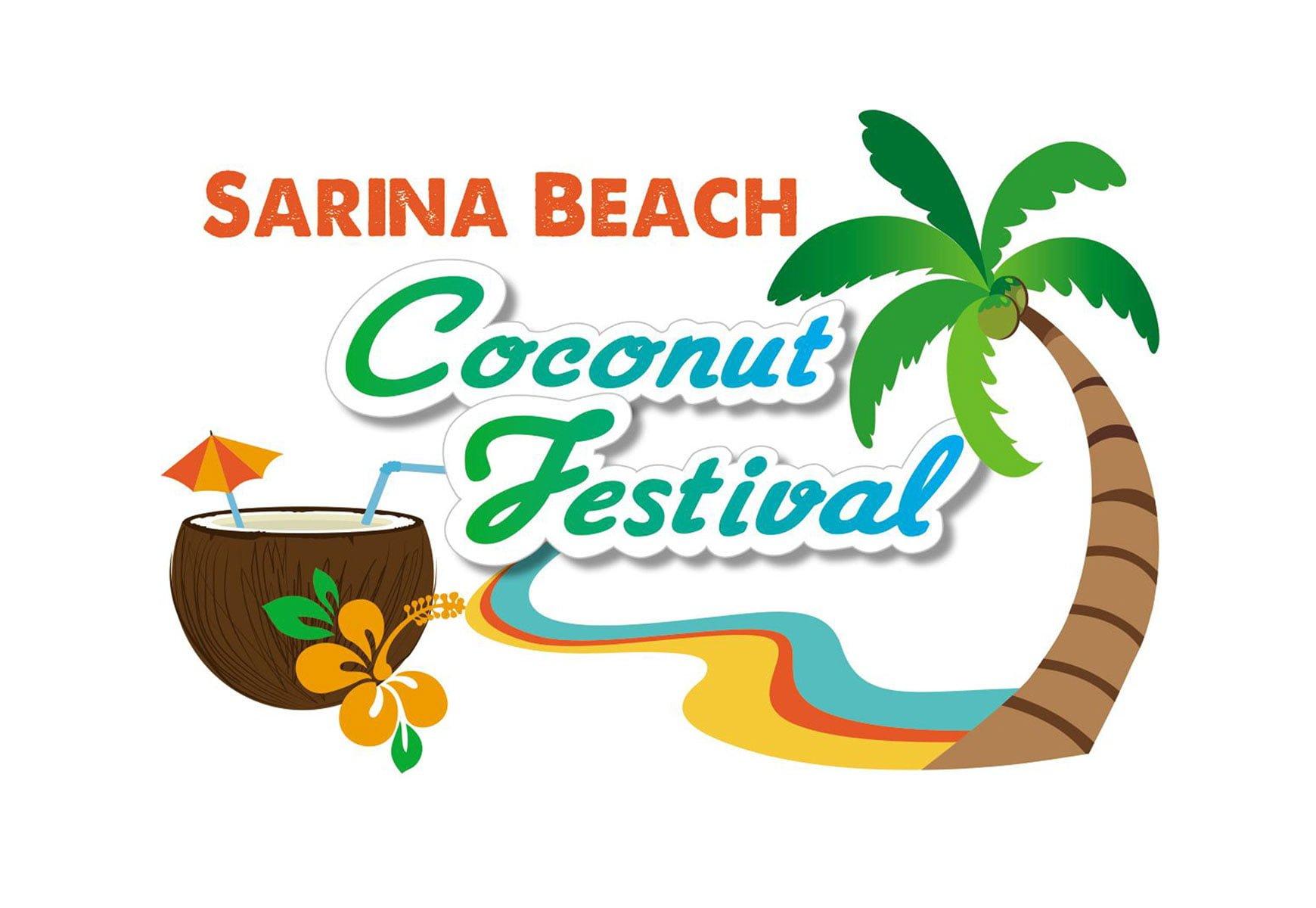 Sarina Beach Coconut Festival Logo